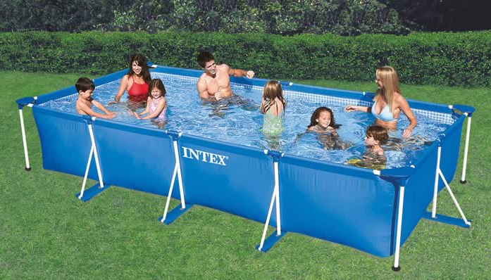 Rf1590 intex 450cm 220cm 85cm for Bache piscine intex rectangulaire 4 50